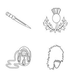 National dirk dagger thistle national symbol vector