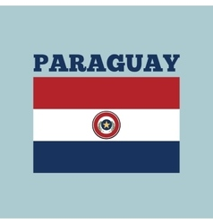 Paraguay country flag vector