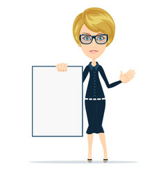 portrait of the business woman with a represent vector image vector image