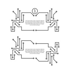 Printed circuit board like quote text vector