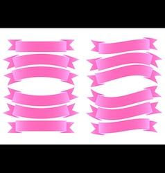 Ribbon Banner Pink vector image vector image