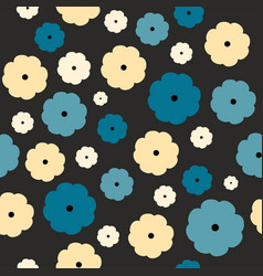seamless floral pattern on a black background vector image