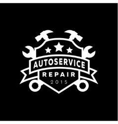 Service auto repair coat of arms shield wrench vector