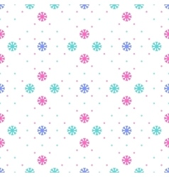 snowflake seamless pattern Winter vector image vector image