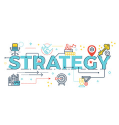 strategy word lettering vector image vector image
