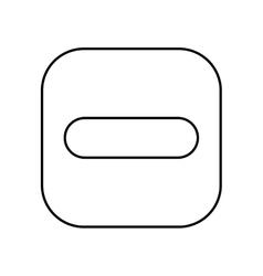 Symbol less button isolated icon design vector