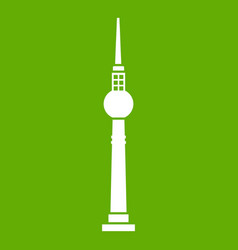 tower icon green vector image