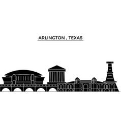 Usa arlington texas architecture city vector