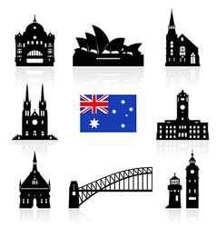 Australia icon vector