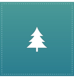 Spruce christmas tree icon vector