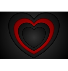 St valentines day abstract red black background vector
