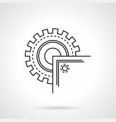 Circular saw blade flat line icon vector