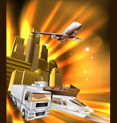 city logistics delivery graphic vector image