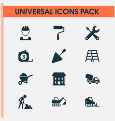 Architecture icons set collection of home vector