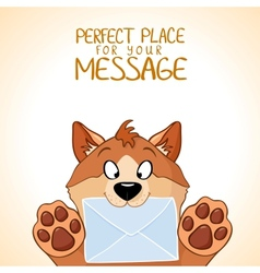 Dog message vector