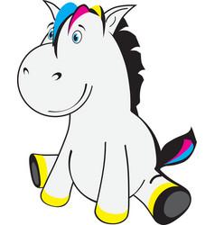 little horse vector image