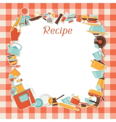 Recipe background with kitchen and restaurant vector