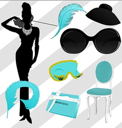 Breakfast at tiffany clipart vector