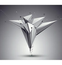 3d mesh modern style abstract background origami vector