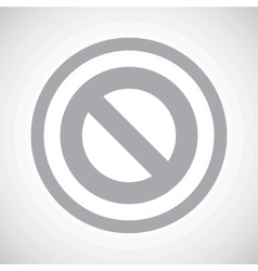 Grey no sign icon vector