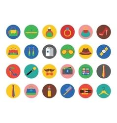 Fashion logo icons set Style dress or vector image