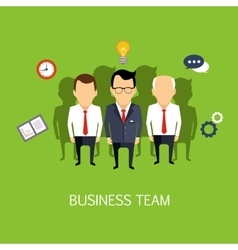 Business team concept art vector