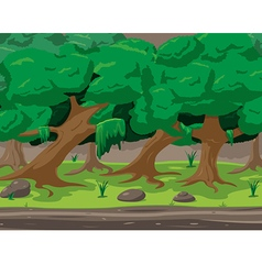 Forest Cartoon Outdoor Background Design vector image