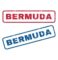 Bermuda rubber stamps vector