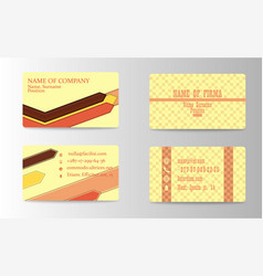business card background design with logo vector image vector image