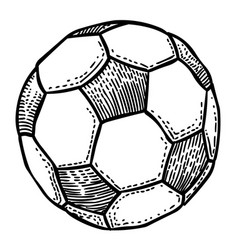 Cartoon image of football ball icon soccer ball vector