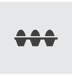 Egg icon vector image vector image