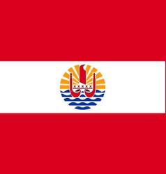 Flag french polynesia flat style vector