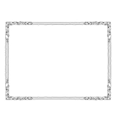 frame with laurel black isolated vector image