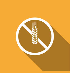 Gluten free grain no wheat sign food intolerance vector