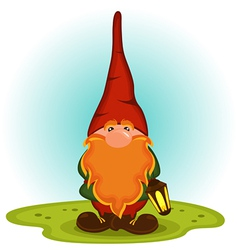 Gnome with a red beard vector