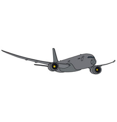 Gray big military jet aircraft vector