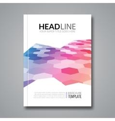 Hexagonal bacgkeound business flyer brochure vector image vector image