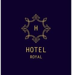 Hotel royal logo vector image