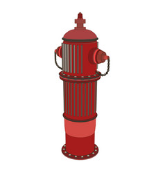 hydrant fire water icon safety emergency vector image vector image