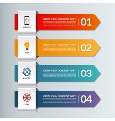 infographic options banner with 4 arrows vector image vector image