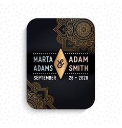 Luxury wedding card invitation vector