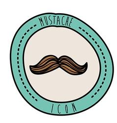 mustache design vector image vector image