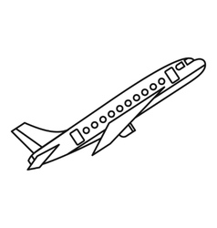 Plane icon outline style vector image