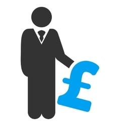 Pound Investor Flat Icon Symbol vector image
