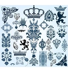 retro heraldry set vector image
