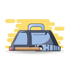 School supplies education concept vector