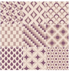 seamless retro pattern print vector image