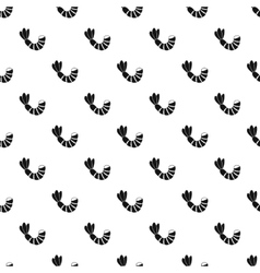 Shrimp pattern simple style vector