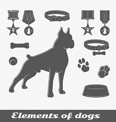 Silhouette of the dog vector image vector image