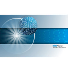 sphere with hexagons 4 vector image vector image